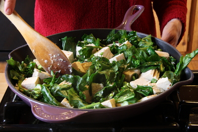Stir-Fried Tofu with Shiitake Mushrooms, and Broccoli Rabe or Chinese ...