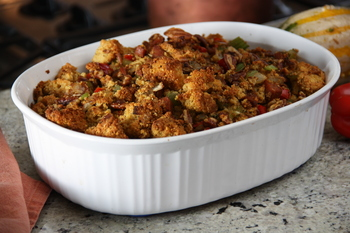 Cornbread Stuffing (gluten-Free) with Andouille , Red Bell Peppers ...